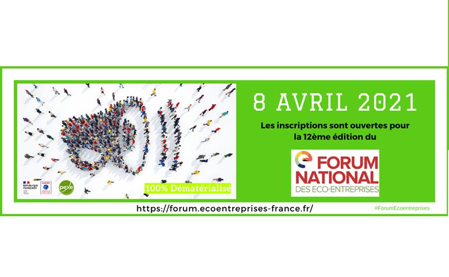 Forum National des éco-entreprises, le 8 avril 2021 ! Format 100% digital