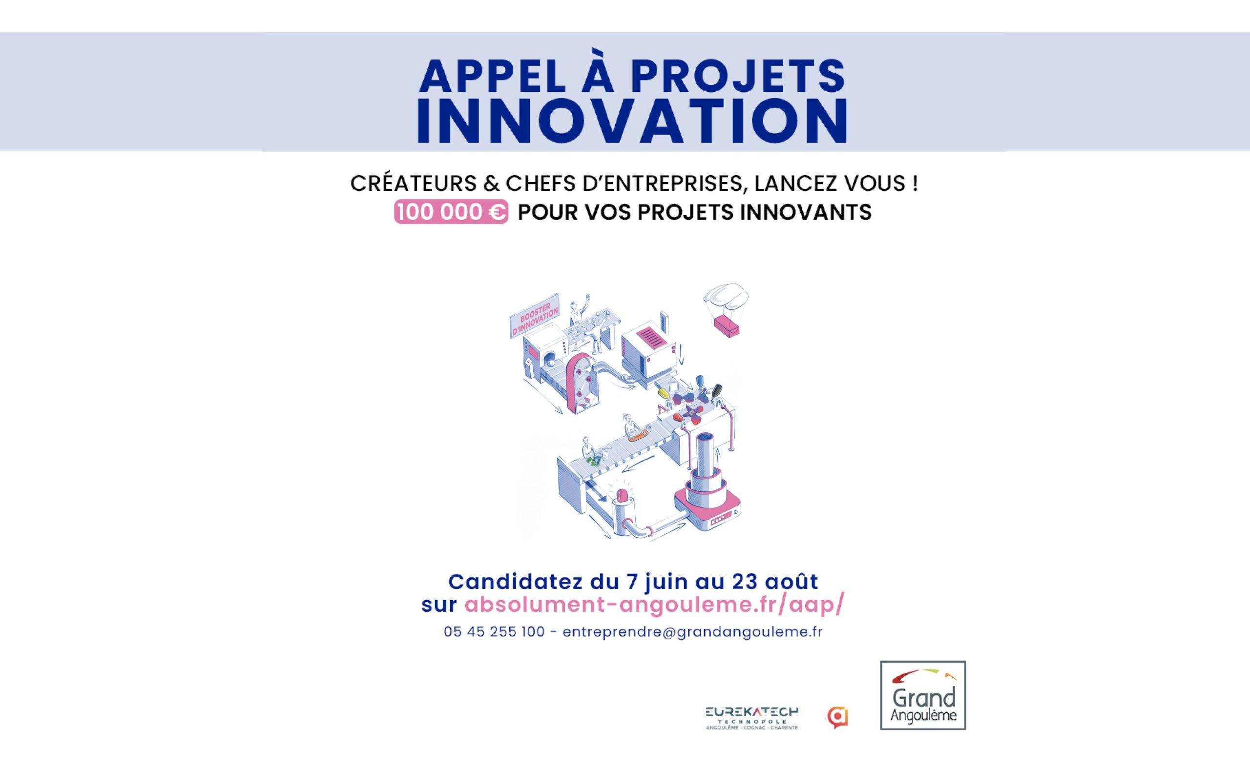 Nouvel appel à projet Innovation d'Eurekatech et GrandAngoulême