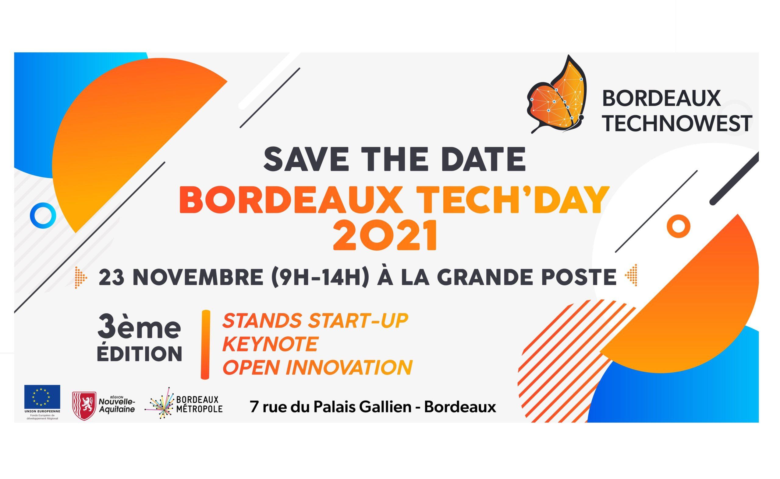 Save the date pour le Bordeaux Tech'Day!